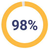 98% pie chart
