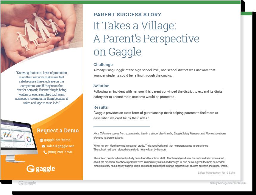 It Takes a Village: Parent Perspective Case Study